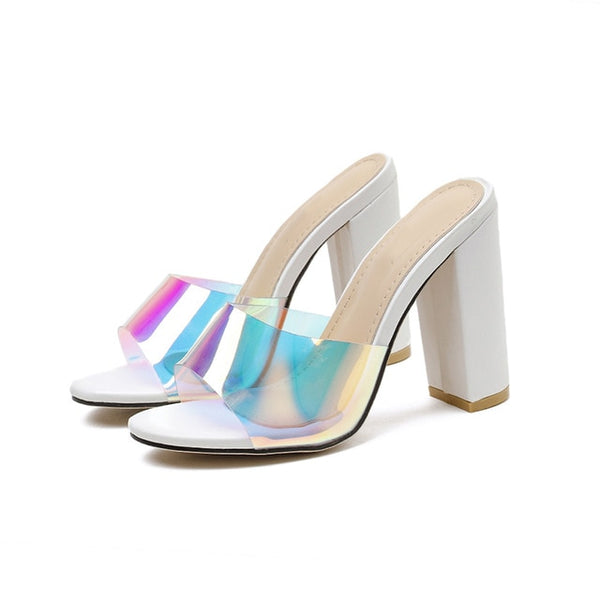 White Block Heels Sandals - Trendo Chic