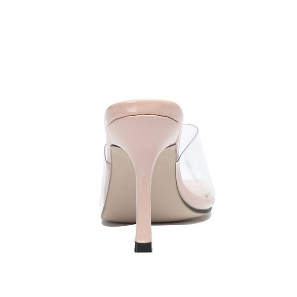 Beige Square Toe Sandals - Trendo Chic