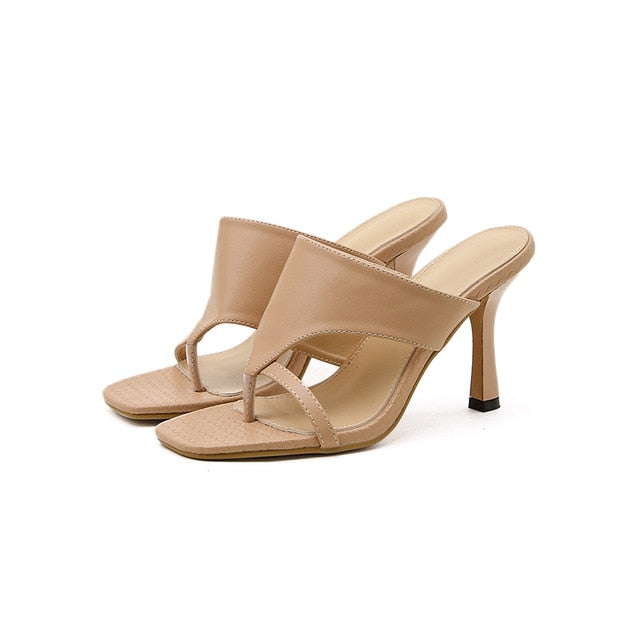 Beige High Heel Sandals - Trendo Chic
