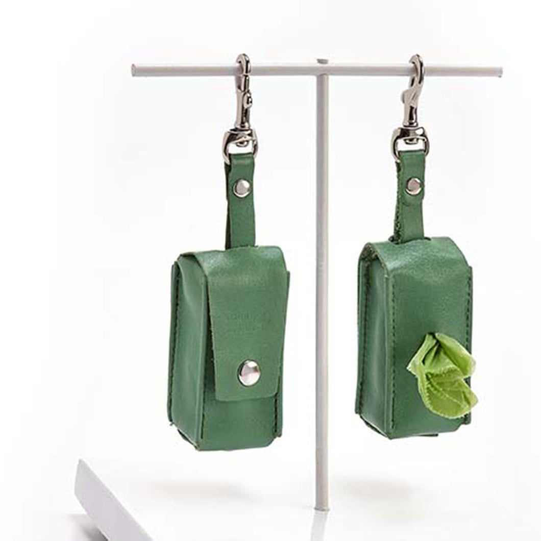 GREEN Poop Bag Holder