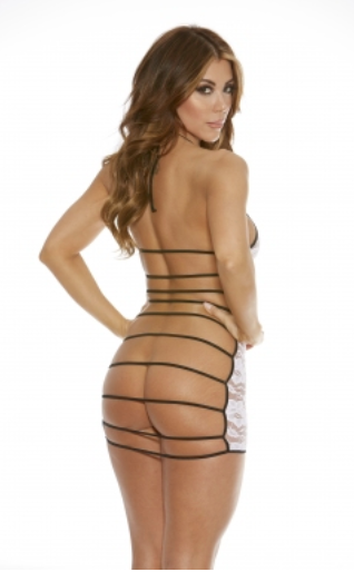 Lace dress front string on back, comes boxed