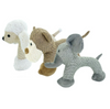 Linen Dog Squeaky Toy