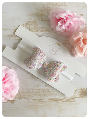 "Large 3.5"" Sprinkle Glitter Bow Band"