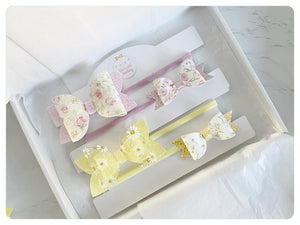 "Two Large 3.5"" Bow Bands, Two Mini Bow Bands Gift Set - SS21"