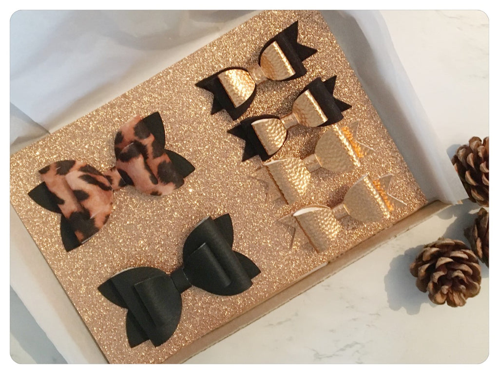 Leopard Print and Copper Bow Gift Set