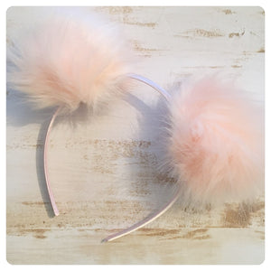 Pom Pom Headband - Light Pink