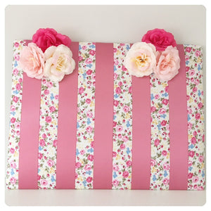 Large Pink Floral Bow board