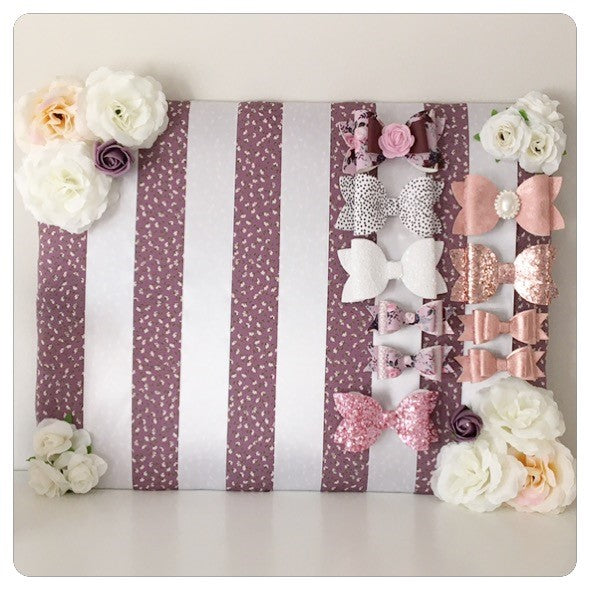 Large Purple Floral Bow board