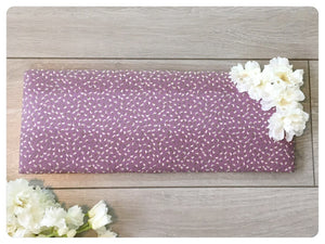 Bow Band Holder - Deep purple floral fabric with cream flowers