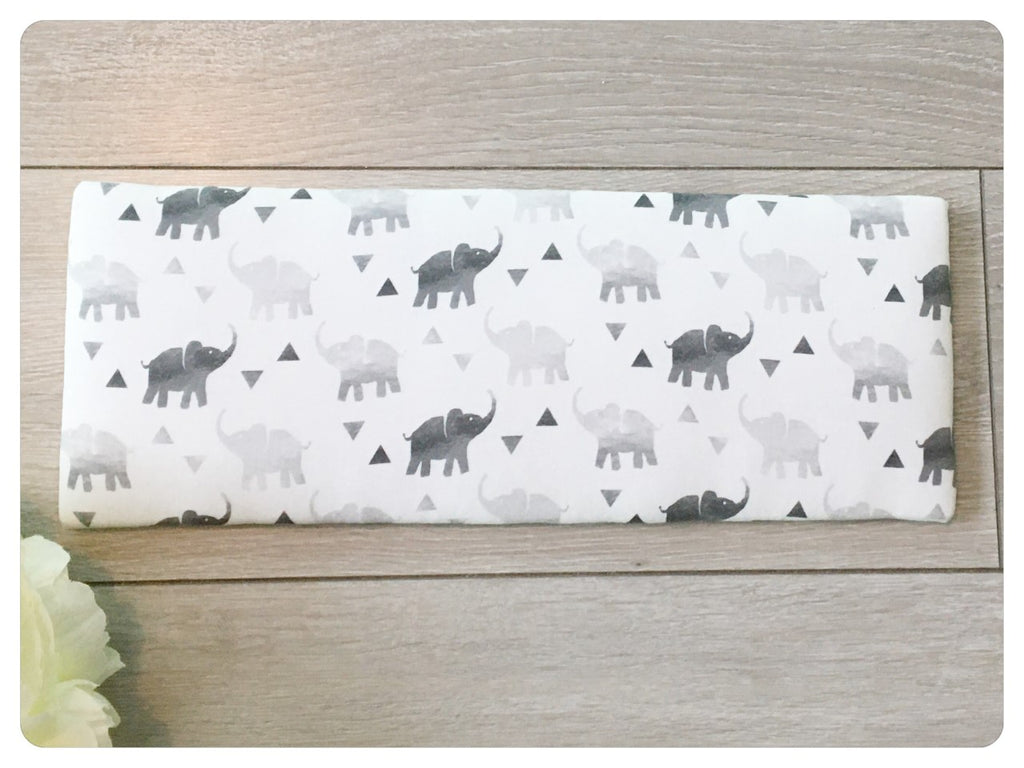 Bow Band Holder - Grey Elephant print