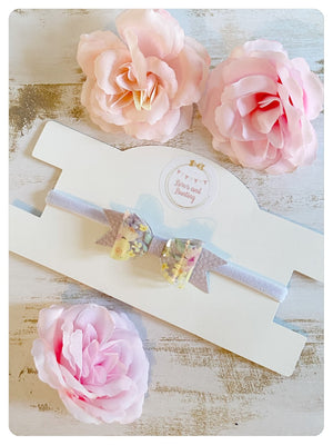 Mini Transparent Floral Bow Bands