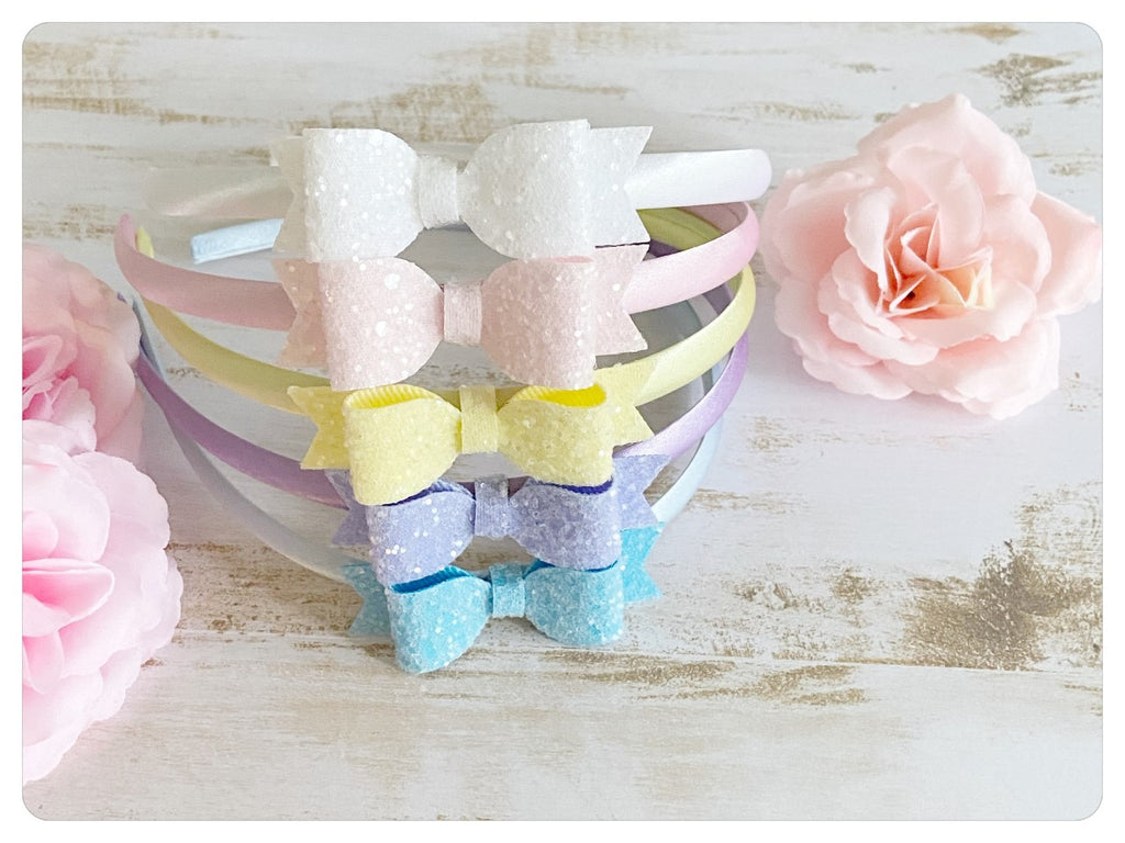 Mini Pastel Glitter Head Bands