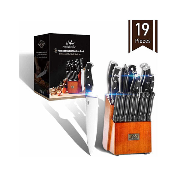 19 Pcs Premium Knife Block Set