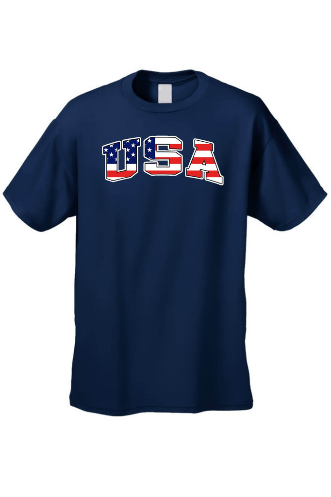 USA Flag T Shirt Men's American Pride Short Sleeve Tee 100% Best Quality