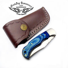 Blue Wood 6.5'' Pocket Knife