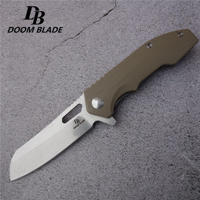 "7.9"" 60-61HRC Knives Outdoor Survival Hunting Portable Folding Knife D2 Steel Camping Tactical Fishing Knifes G10 Hand Tools"