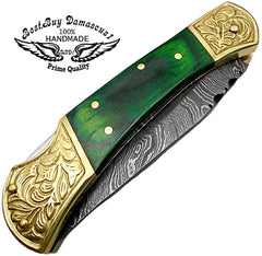 Green Wood Scrimshaw Work 7.6''
