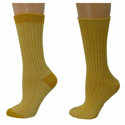 Outdoor Boot Hiking Marled Twisted Cotton 2 Pair Pack Socks W33