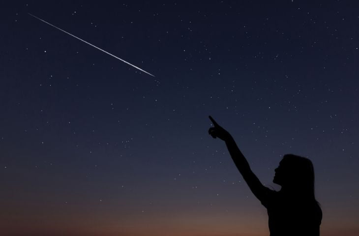 shooting star in the sky