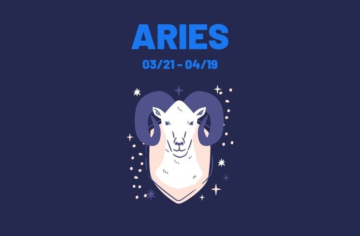 Blue Zodiac Sign Aries Illustration