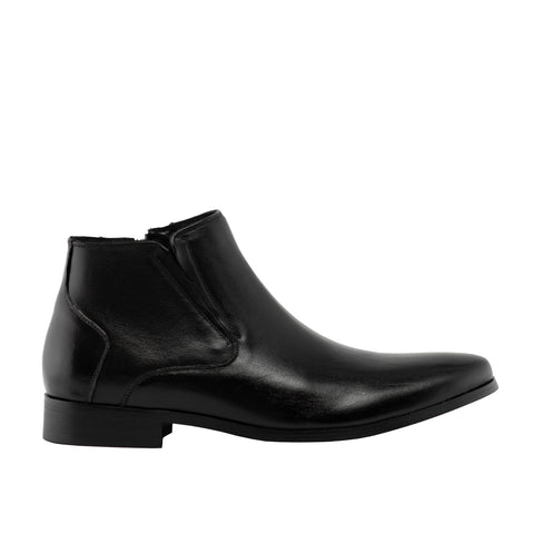 Genuine Leather Boots-Ted Black