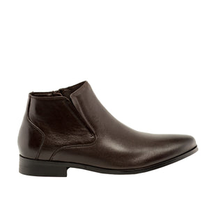 Genuine Leather Boots-Ted Dark Brown