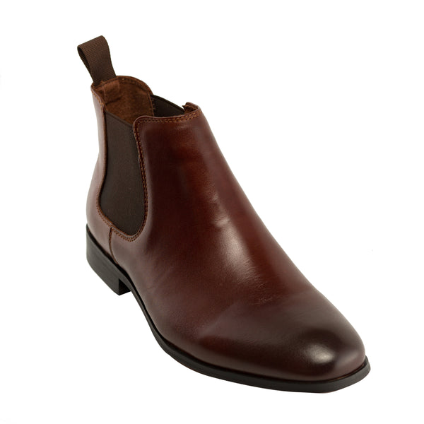 Genuine Leather Boots-Howard Chocolate Brown