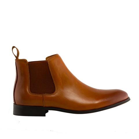 Genuine Leather Boots-Howard Tan
