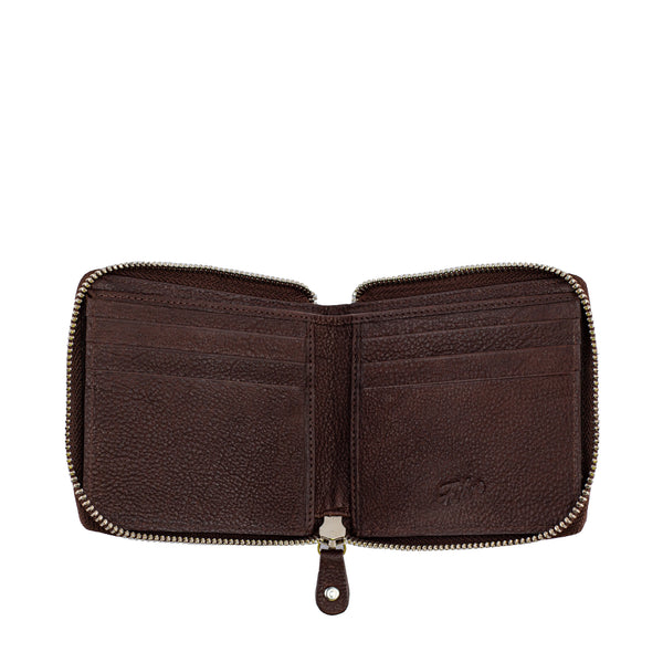 Brown Leather Wallet-Style Cardiff