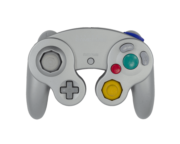 Stock Platinum Gamecube Controller - Battle Beaver Customs