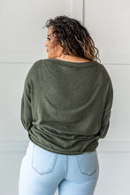 Load image into Gallery viewer, Easily Adored Balloon Sleeve Top - Olive
