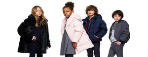 boys and girls wearing designer kids clothes
