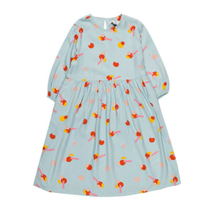 Stella McCartney Kids Girls Geometric Print Dress. Round Neck & Long Sleeves