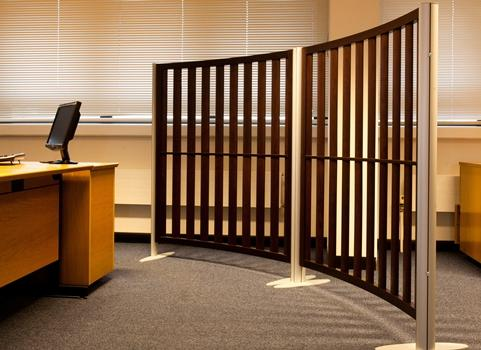 Slatted Curved Screens - Screens Plus