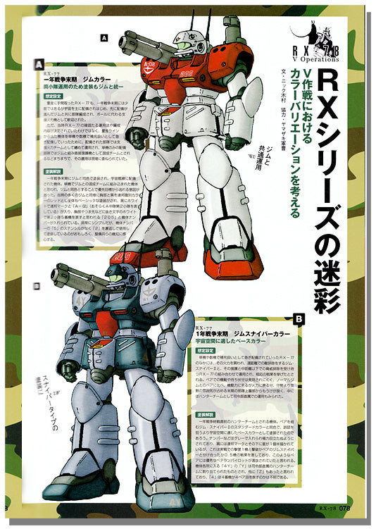 Mobile Suit Gundam RX-78 Gundam & V Operation Book | Gundam UC Project