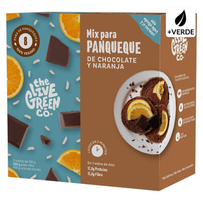 MIX PARA PANQUEQUE CHOCOLATE Y NARANJA 200 G THE LIVE GREEN CO