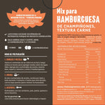 Mix para Hamburguesas de champiñones, textura carne 200g The Live Green Co