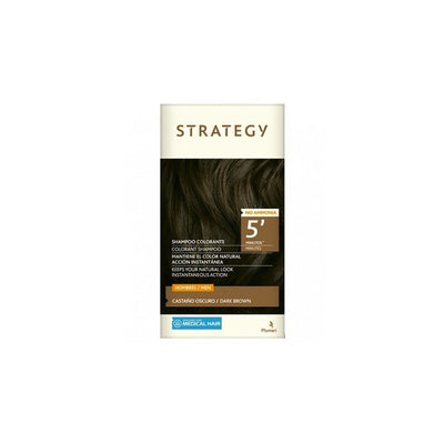 Shampoo Colorante Castaño Oscuro 30 mL Strategy MEN