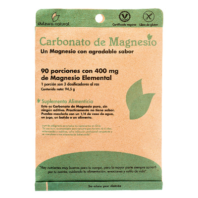 Carbonato de Magnesio 400 Mg Dulzura Natural
