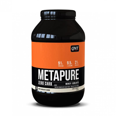Metapure Chocolate Blanco Whey Protein Isolate Zero Carb 908g QNT