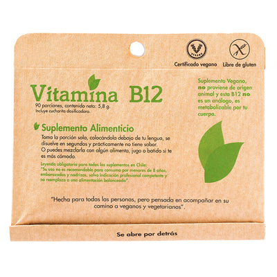 Vitamina B12 90 PORC. Dulzura Natural