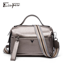 Load image into Gallery viewer, 100% Genuine Leather Women Handbag Fashion Top-Handle Boston Pillow Bag Soft Leather Female Shoulder Bag Women Crossbody Bag sac
