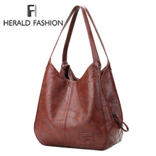 Load image into Gallery viewer, Vintage Women Hand Bag Designers Luxury Handbags Women Shoulder Bags Female Top-handle Bags Fashion Brand Handbags Casual Totes