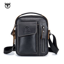 Load image into Gallery viewer, Genuine Leather men's Crossbody bag Vintage cow leather man Messenger Bags Small Shoulder bag for male Casual handbag