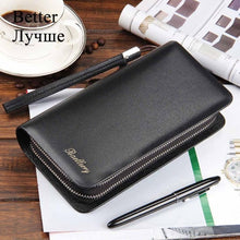 Load image into Gallery viewer, Baellerry Men Wallets Large Capacity Cell Phone Pocket Double Zipper Men Clutch Bag Passcard Pocket Male Business Wallet