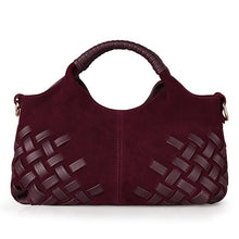 Load image into Gallery viewer, Latest Women Weave Suede Split Leather Handbag Female Leisure Casual Lady Crossbody Shoulder Bag Messenger Top-handle Bags Sac