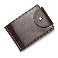 Load image into Gallery viewer, CUIKCA Slim Leather Wallet Coin Bag Money Clip Card Cases Zipper  Women Men Wallet Pull Type ID Credit Card Holders Hasp