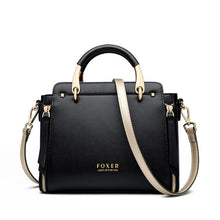 Load image into Gallery viewer, FOXER Handbag Women Purse Chic Totes Female Split Leather Shoulder Bags Large Capacity Handbags Stylish Messenger Bags 928019F