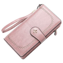 Load image into Gallery viewer, 2020 Large Women Wallets Name Engraving Hollow Out Long Wallet Fashion Top Quality PU Leather Card Holder Wallet For Women