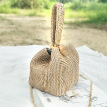 Load image into Gallery viewer, Brand Straw Bags for Women Beach Bag Personality Crossbody Lock Handbag Lady Vintage Handmade Knit Fashion Shoulder Bag